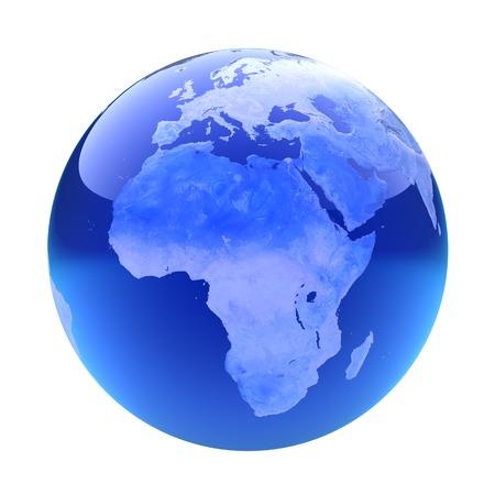glassy: Glassy globe.Africa