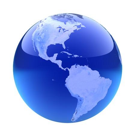 glassy: Glassy globe.America
