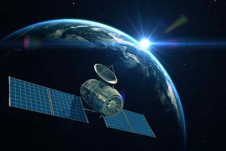 Telecommunication satellite Archivio Fotografico