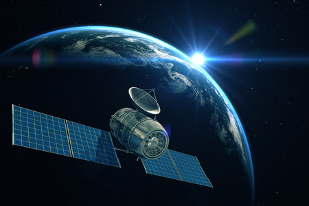 Telecommunication satellite Standard-Bild