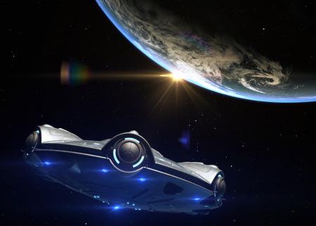 UFO headed toward Earth