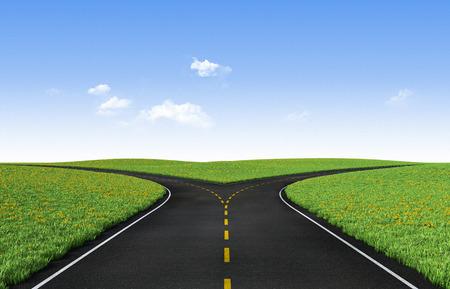 Forked road Standard-Bild