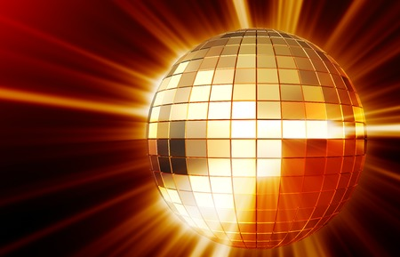 mirrorball: Shining disco mirrorball  background