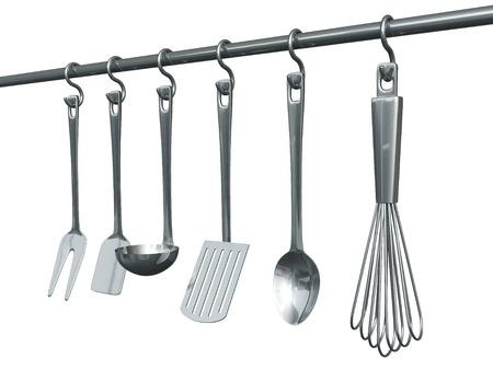 solated: Kitchenware Stock Photo