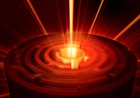 labirinth with mistique light