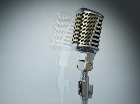 microfono de radio: Micrófono de la vendimia Foto de archivo
