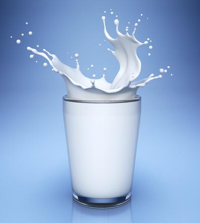 Mleczko: Splash białego mleka w szkle Zdjęcie Seryjne