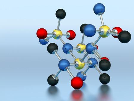 molecular model: A molecular model represents molecules and their processes.