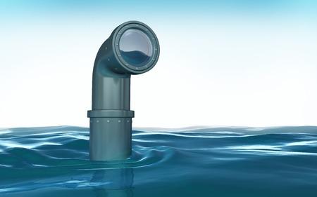 Periscoop boven het water