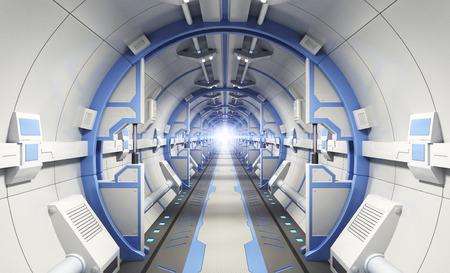 interrior: Fantastic interrior. Spaceship corridor