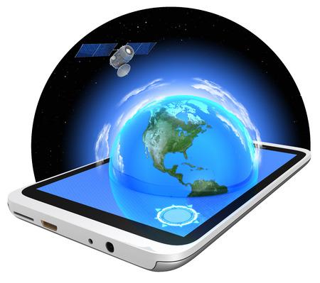 Tablet PC and GPS navigation. 版權商用圖片