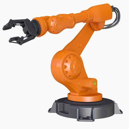 Robotic Arm isolated Stock Photo