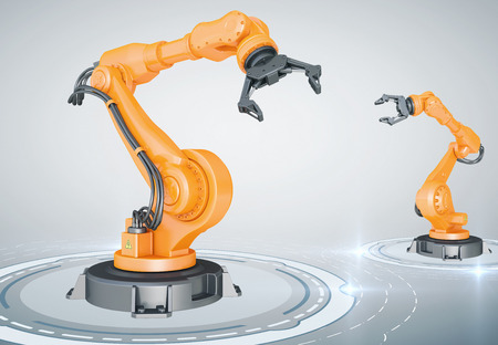 robot arm: Industrial robotic arms
