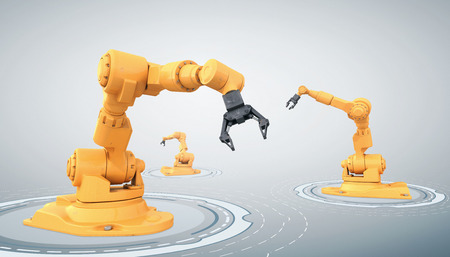 robot arm: Assembly line