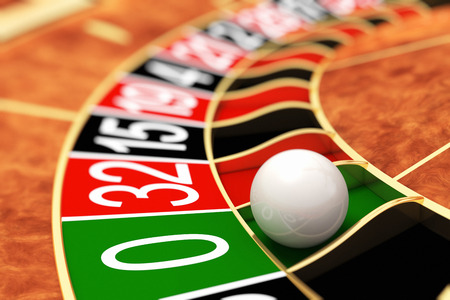 roulette wheel: Casino roulette. Zero Stock Photo