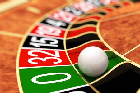 ruleta: Ruleta del casino. Cero Foto de archivo