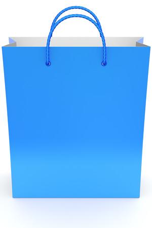Blue shopping bag 版權商用圖片