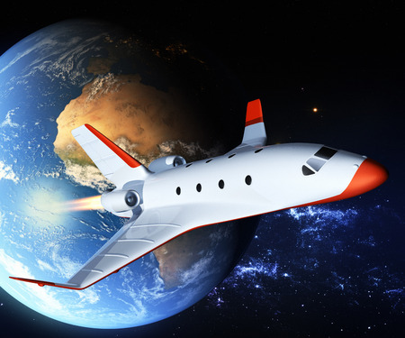 Touristic space shuttle 스톡 콘텐츠