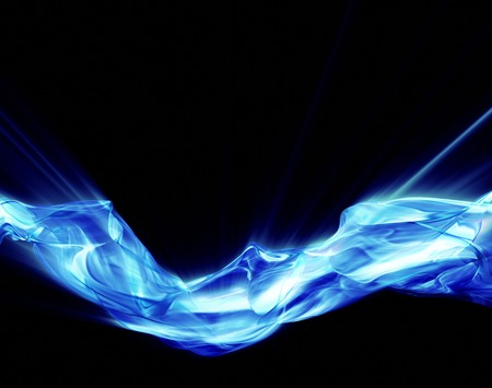 photographic effects: Abstract glowing plasm on black