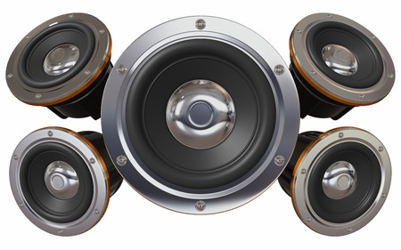 sound system: Sound system. Five loudspeakers