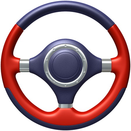 vehicle accessory: Car steering wheel Stock Photo