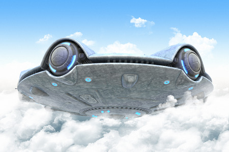 appears: UFO appears from clouds