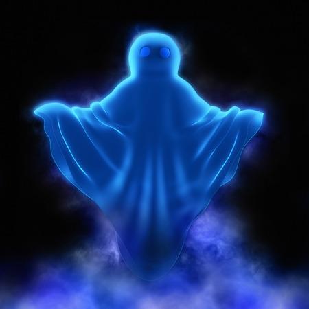 hoodlum: Ghost   in mystic  fog Stock Photo