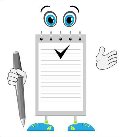 comic figur: Cartoon Charakter Notepad
