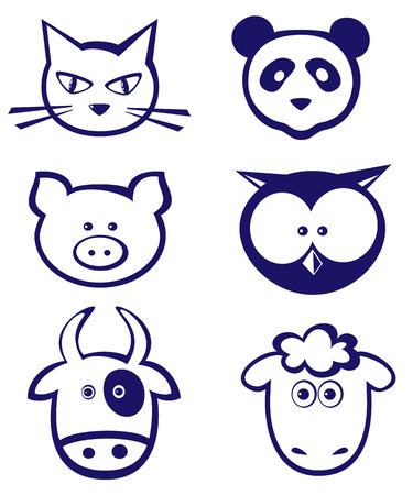 head set: Animals icon set
