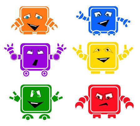 cute robot: EmoBots illustration