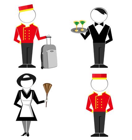 hotel staff: Hotel staff  vector set