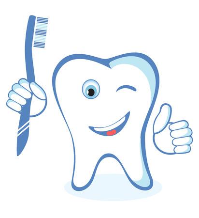 Gesunde weiße glänzende Zahn Standard-Bild - 34568035
