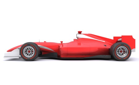 sports race: Formula race red car designed by myself