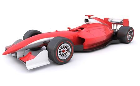 umÃ? ní: Carrera de Fórmula coche rojo diseñado por mí mismo Foto de archivo