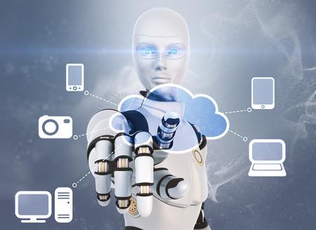 Cloud computing concept Banco de Imagens