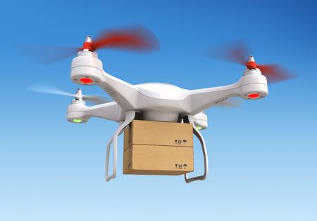 autonomic: Quadrocopter drone  delivering package