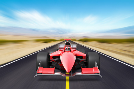 Race car with no brand name is designed and modelled by myself Stockfoto