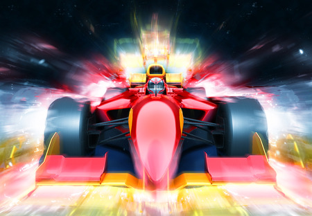 winner: raza bólido coche con efecto de luz. Coche de carreras sin marca está diseñada y modelada por mí mismo