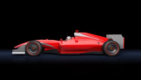 검은 배경에 일반 빨간 자동차 경주 스톡 콘텐츠