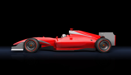 Generic red race car on the black background 版權商用圖片 - 40900301