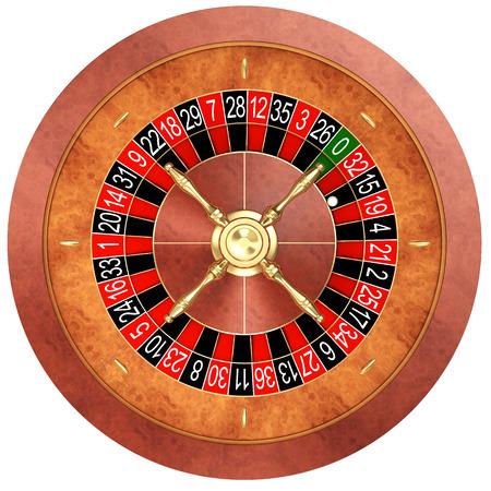 ruleta: la ruleta del casino aislado en blanco