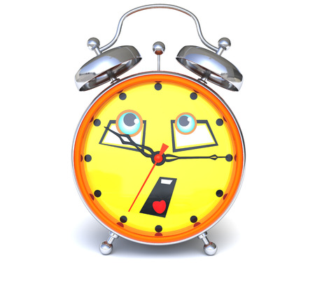 beat the clock: Alarm clock with face