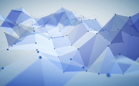 Abstract polygonal technology background