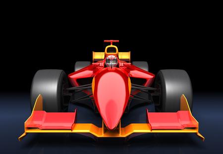 黒の背景に赤い一般的なレースカー