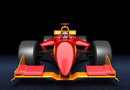 Generic red race car on the black background 版權商用圖片 - 40900333