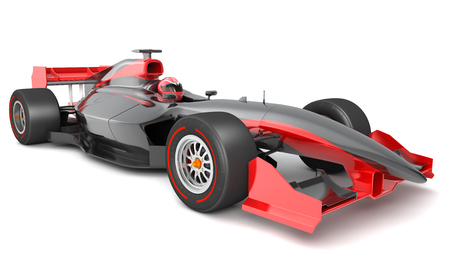 Generic black and red race car.  This is 3D model and this sport car doesnt exist in real life