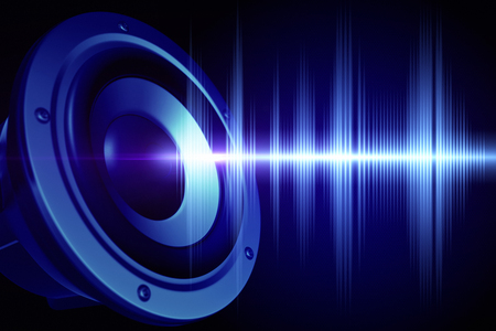 Loud speaker and  sound wave Stockfoto