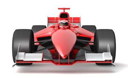 一般的な黒と赤のレースの車。 これは、3 D モデルと現実の生活にこのスポーツ車は存在しません