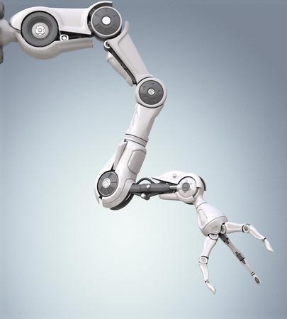 Futuristic robotic arm with mechanical seizure Stockfoto