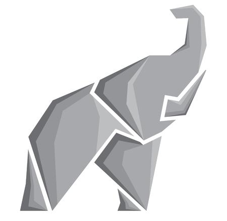 siluetas de elefantes: vector de imagen estilizada de un elefante Vectores
